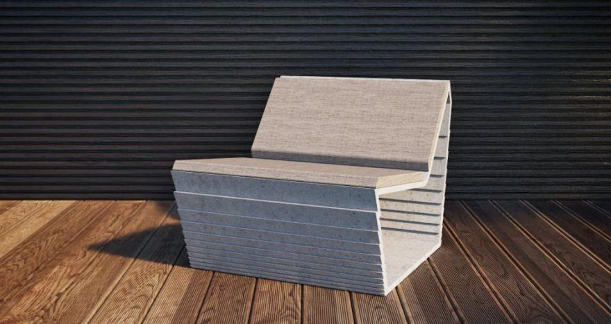 Скамейка из бетона 1