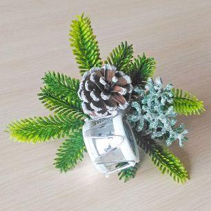 """Пика новогодняя """"Барабан"""" серебро"""