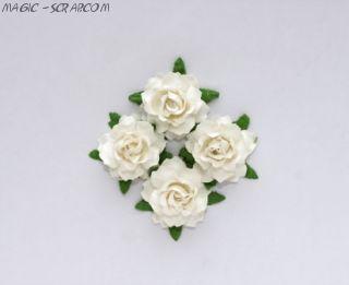"""Цветы """"Кудрявой розы - белые"""" - 4 шт"""