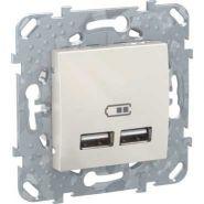 Unica Беж 2 USB зарядное устройство, 2.1А