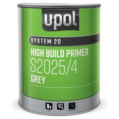 U-Pol Комплект S2025B/1 грунт наполнитель 4:1, черный + S2030/SM отвердитель быстрый (комплект), 1л. + 250мл.