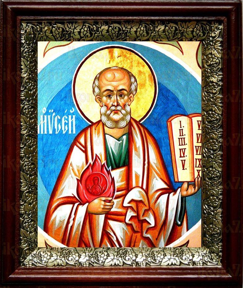 Моисей, пророк (19х22), темный киот