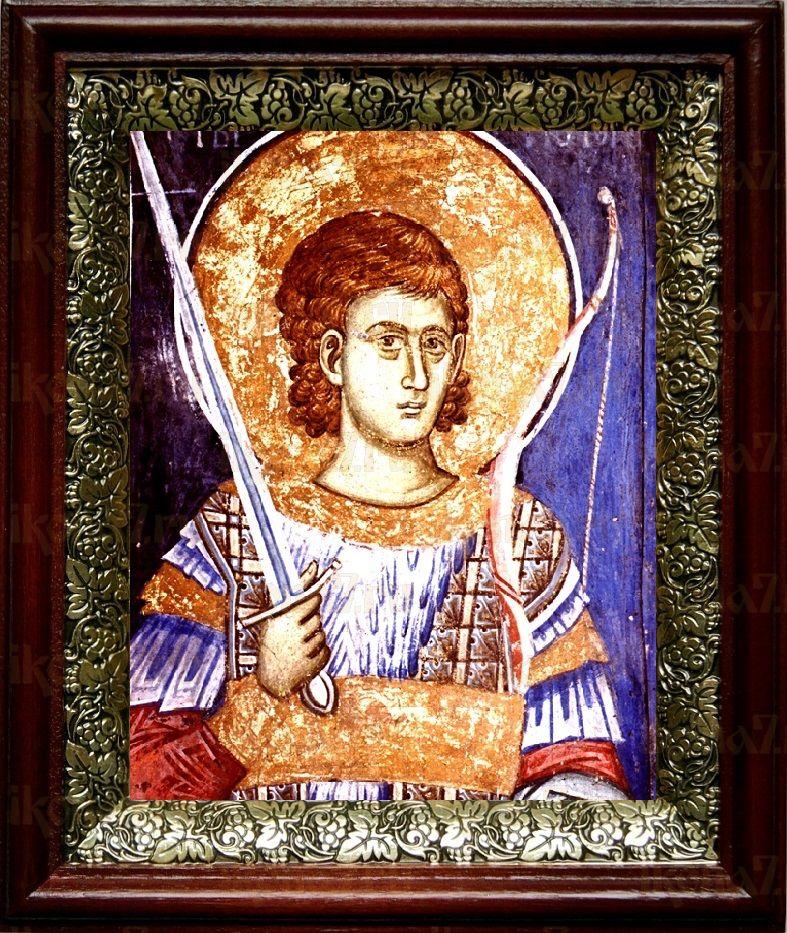 Нестор Солунский (19х22), темный киот