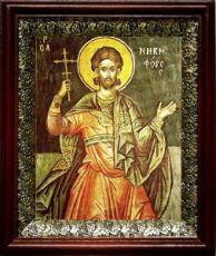 Никифор Антиохийский (19х22), темный киот