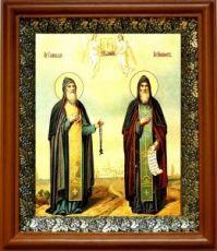 Никифор и Геннадий Важеозерские (19х22), светлый киот