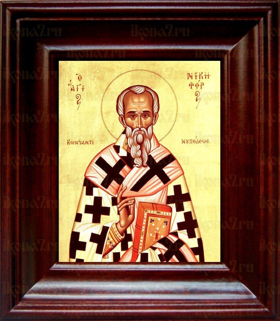 Никифор Константинопольский (21х24), простой киот