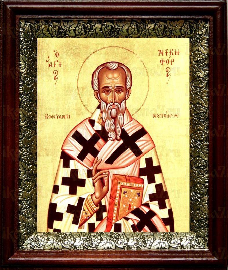 Никифор Константинопольский (19х22), темный киот