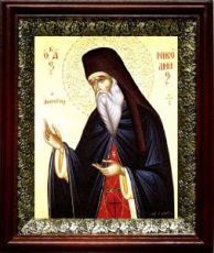 Никодим Святогорец (19х22), темный киот