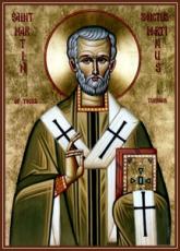 Мартин Милостивый (Турский) (рукописная икона)