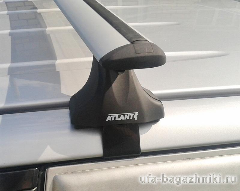Багажник на крышу Hyundai Creta, без рейлингов, Атлант, крыловидные дуги, опора Е