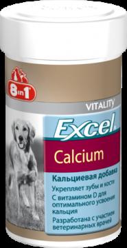 Кальциевая добавка 8in1 Calcium с фосфором и витамином D, для собак и щенков