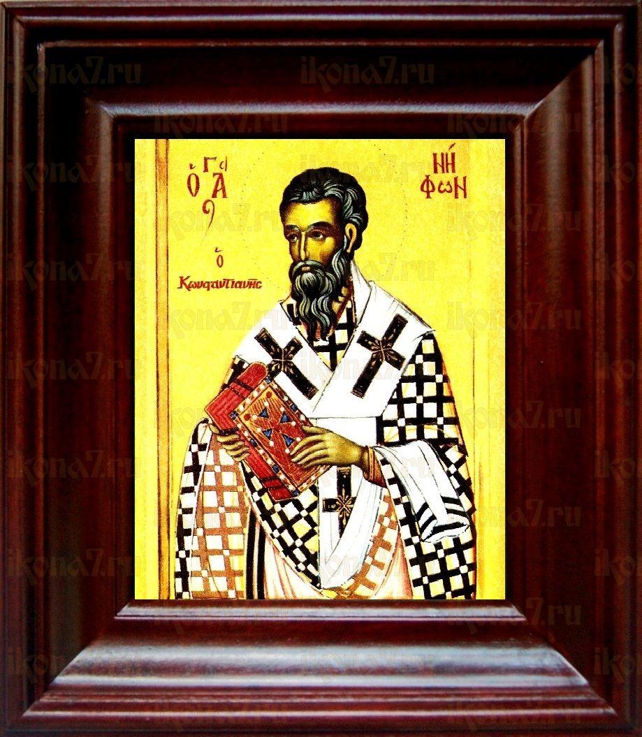 Нифонт Константинопольский (21х24), простой киот