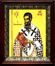Нифонт Константинопольский (19х22), темный киот