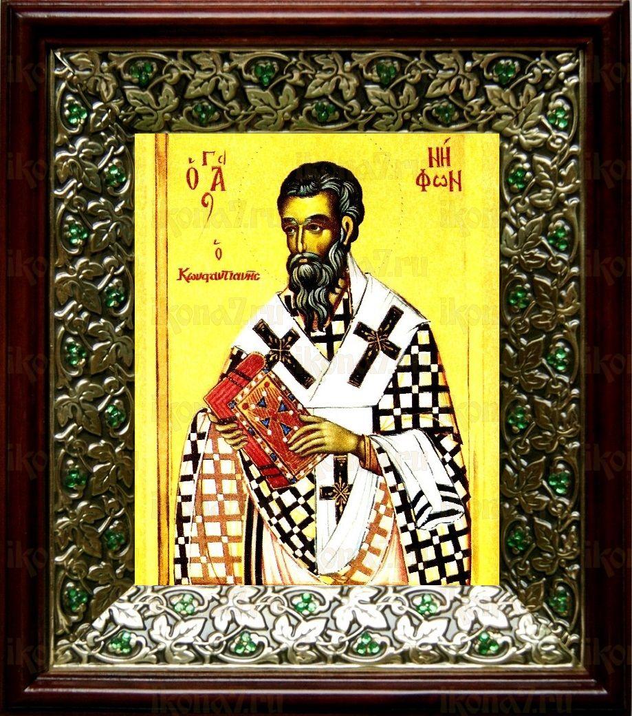 Нифонт Константинопольский (21х24), киот со стразами