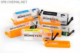 Комплект нано-картриджей BURSTEN II СС15 для принтеров CAN MG5740 (470/471) x5, с чипом ApexMic