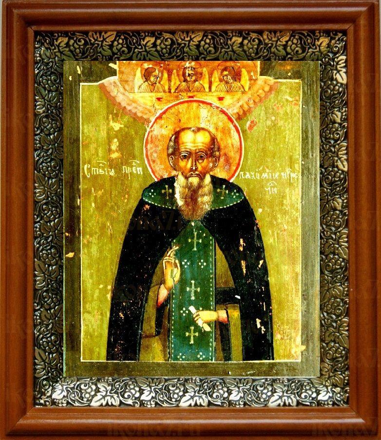 Пахомий Нерехтский (19х22), светлый киот