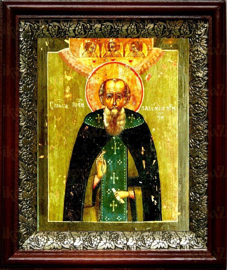 Пахомий Нерехтский (19х22), темный киот