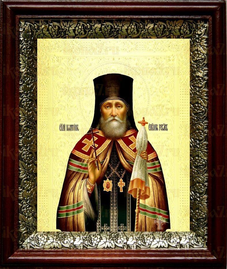 Платон Ревельский (19х22), темный киот