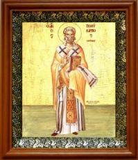 Поликарп Смирнский (19х22), светлый киот