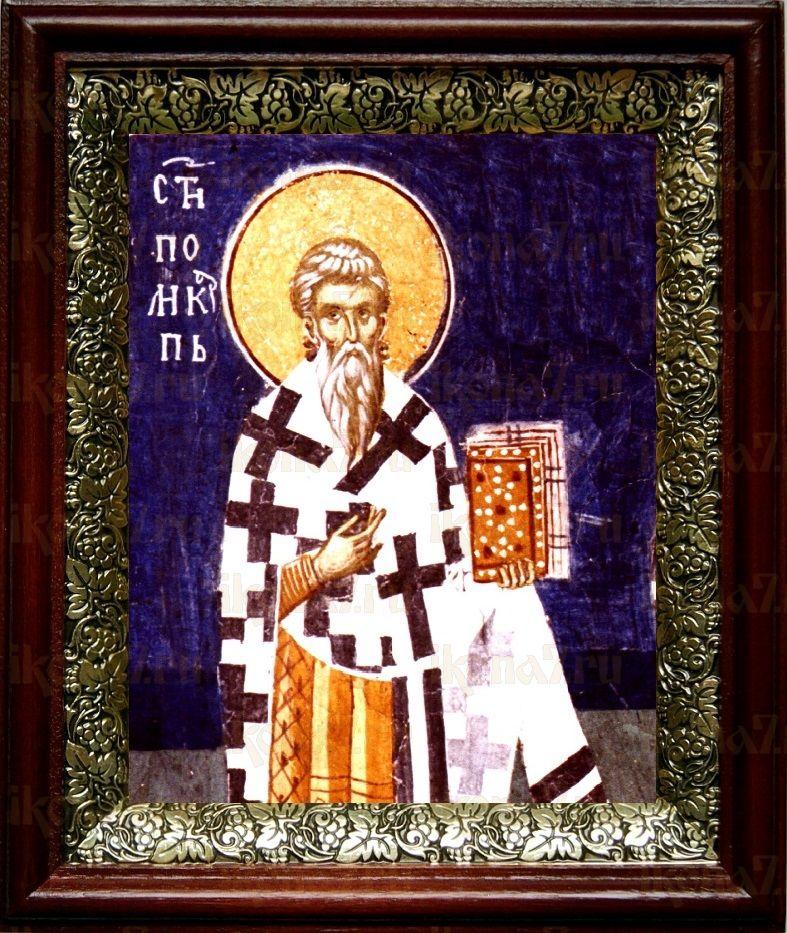 Поликарп Смирнский (19х22), темный киот
