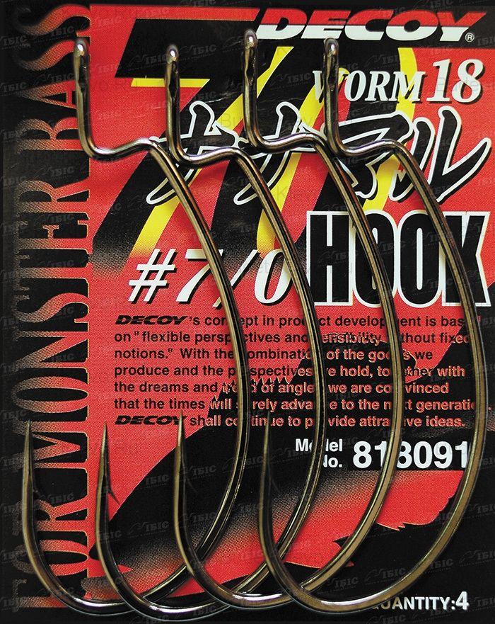 Офсетный Крючок Decoy Hook Worm 18