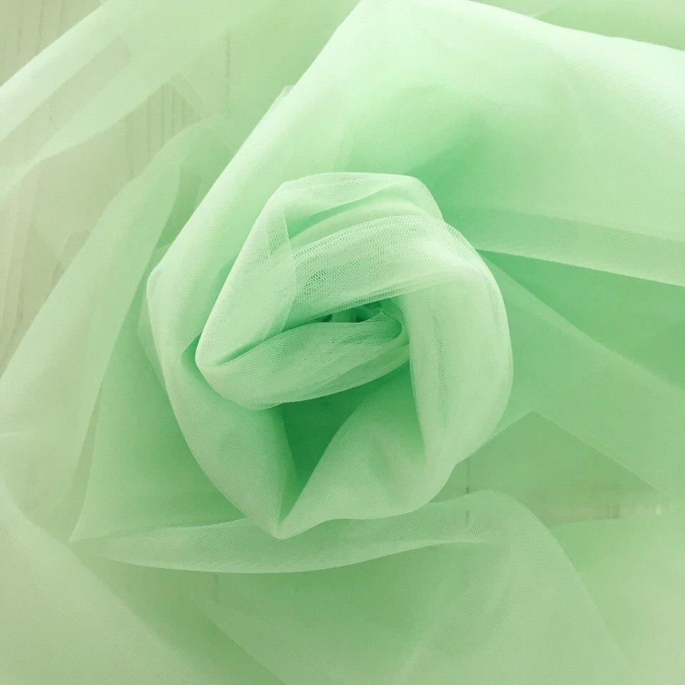 Мягкий фатин Пастель - нежно-зеленый