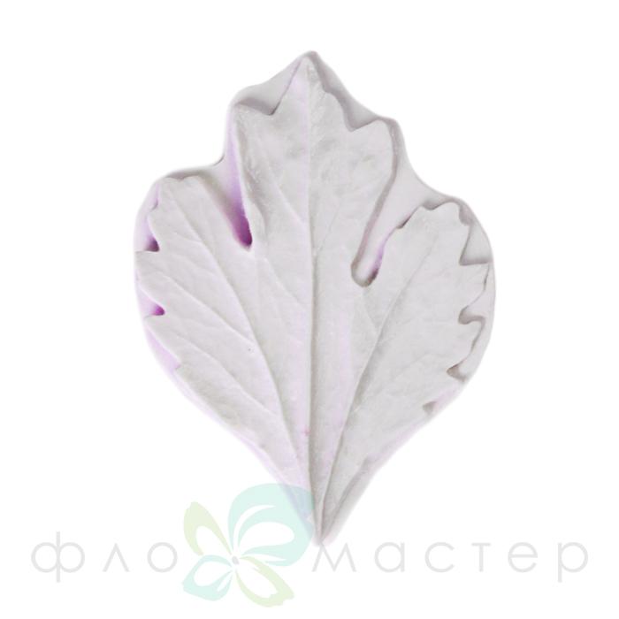 Молд лист хризантемы симметричный