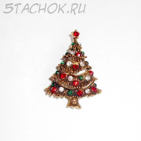 """Брошь """"Праздничная елка"""" (США)"""