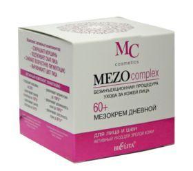 """БЕЛИТА MEZO COMPLEX Мезокрем дневной для лица и шеи 60+ """"Активный уход для зрелой кожи"""" 50мл"""