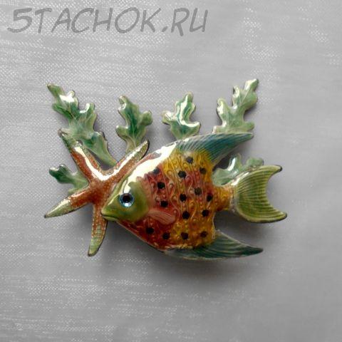 """Брошь """"Глубоководная рыбка"""" (США)"""