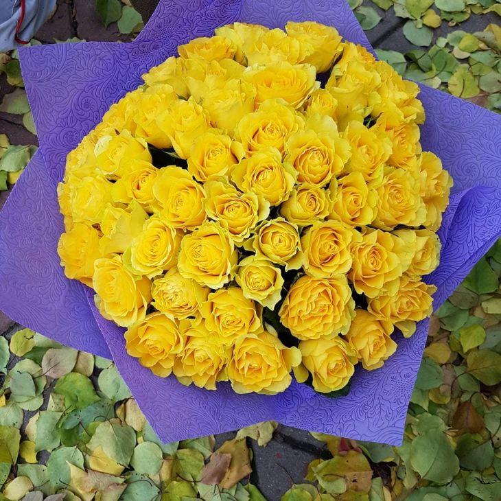 Букет 51 желтой розы