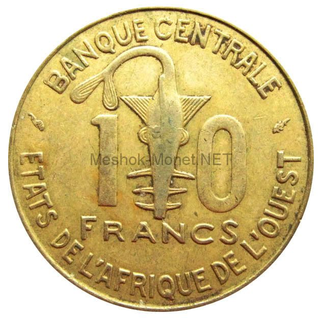 Западно-Африканский союз 10 франков 1991 г.