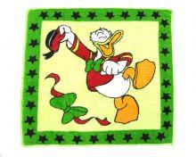 """Плед детский """"Дональд Дак"""" 95х95 (велсофт зеленый) оптом """"Мамин Малыш"""" код 01008"""