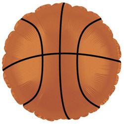 Баскетбольный мяч шар фольгированный с гелием