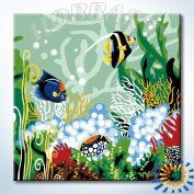 "Картина по номерам ""HOBBART Lite. Мир на дне моря"" 20х20"