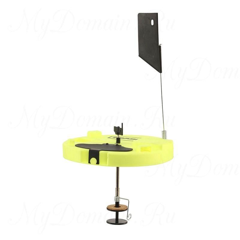 Жерлица Frabill Pro Thermal Tip-Up yellow W/ LIL' Shiner круглая, термальная, желтая, светлячок