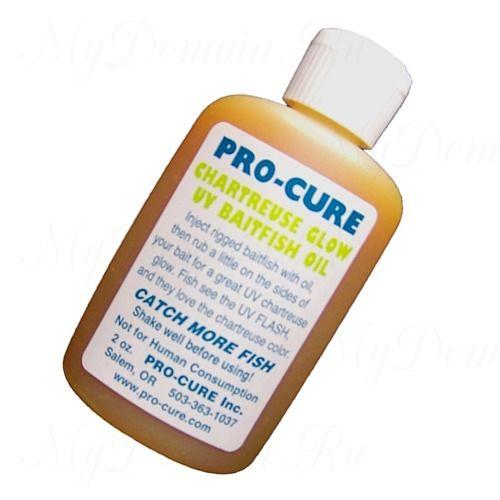 Аттрактант Pro-Cure Chartreuse Glow UV Baitfish Oil 2oz.