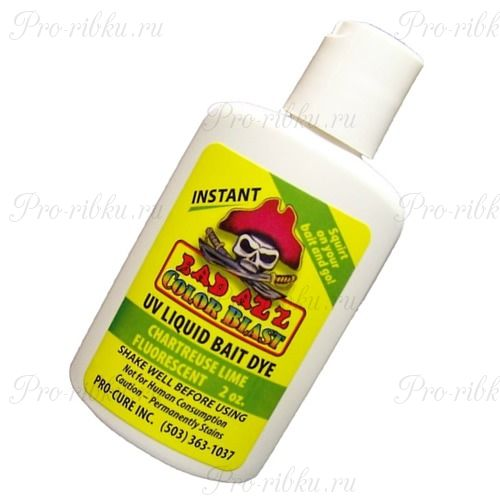 Аттрактант-краситель Pro-Cure Bad Azz UV Liquid Bait Dye 2 oz. (Chartreuse Lime)