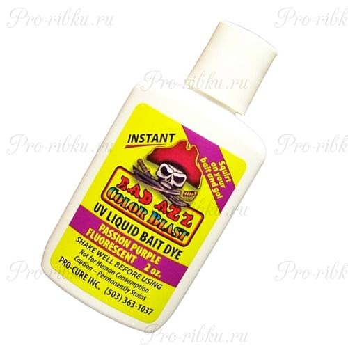 Аттрактант-краситель Pro-Cure Bad Azz UV Liquid Bait Dye 2 oz. (Passion Purple)