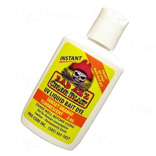 Аттрактант-краситель Pro-Cure Bad Azz UV Liquid Bait Dye 2 oz. (Sunset Orange)