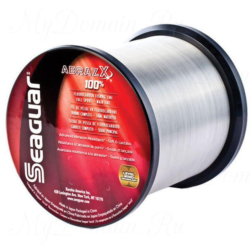 Леска флюорокарбоновая Seaguar Abrazx 0,405 мм; 20 lb/9,1 кг; 1000 ярдов/914 м.