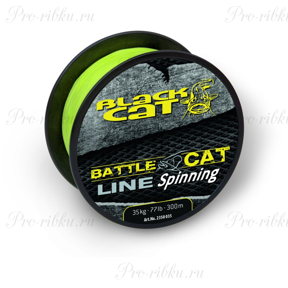 Леска Black Cat Battle Catline Spinning, цвет Yellow, 0.45 мм 99lb (45 кг) (300 м)