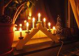 Рождественская горка 7 свечей WHITE ADAM