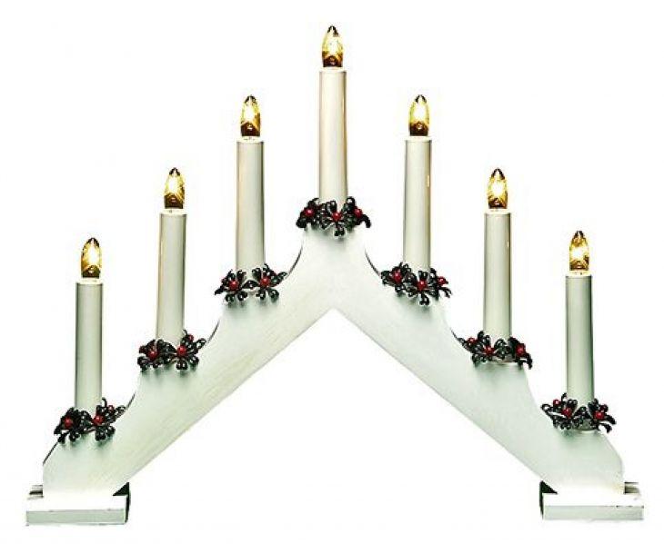 Рождественская горка 7 свечей WHITE FINN-LUMOR