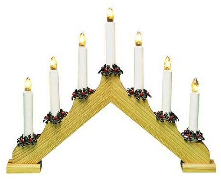 Рождественская горка 7 свечей деревянный FINN-LUMOR