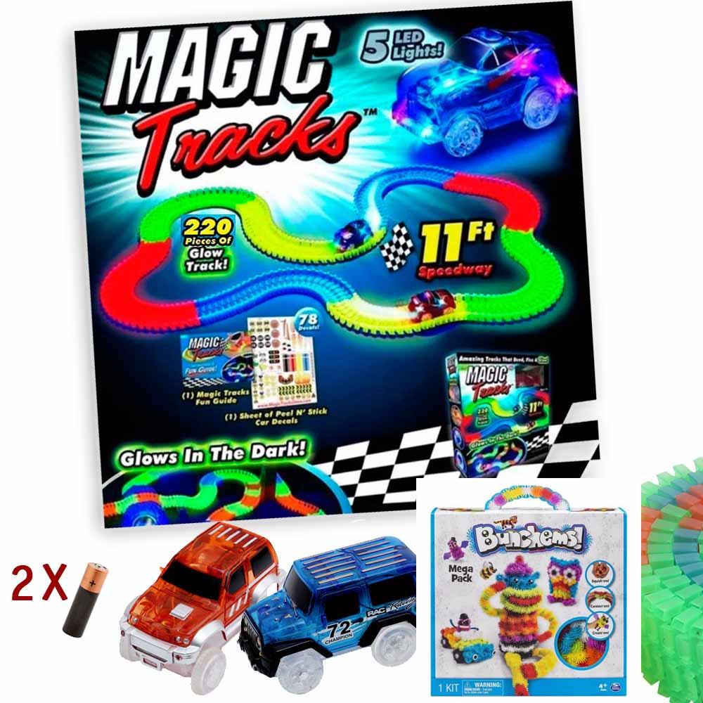 Magic-Tracks 220 деталей. + 2 машины