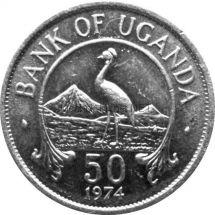Уганда 50 центов 1976 г.