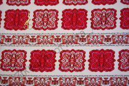 Орнамент красный футер2-х нитка с лайкрой