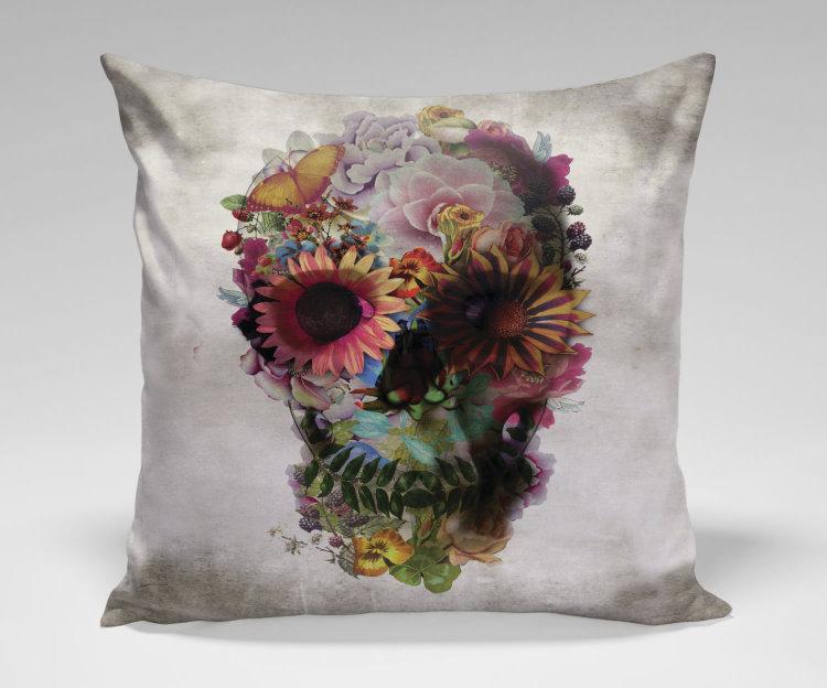 Подушка Flower Skull by Ali Gulec