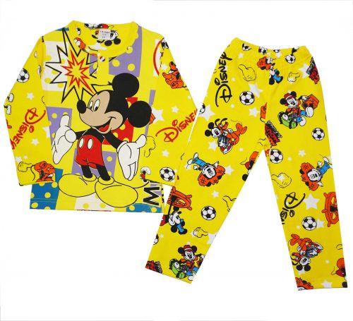 Пижама с начесом для мальчиков 2-6 лет BB029